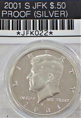 2001 S JFK $.50 PROOF (90% SILVER) JFK022
