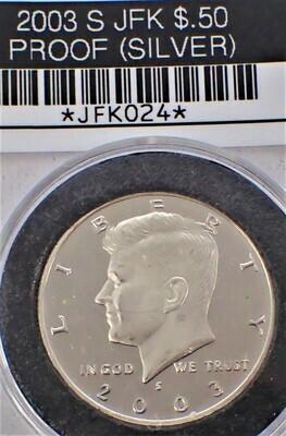 2003 S JFK $.50 PROOF (90% SILVER) JFK024