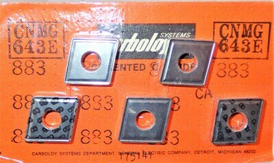 CARBOLOY CARBIDE INSERT 5 TO PACKAGE CNMG643E