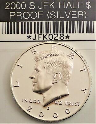 2000 S $.50 JFK (SILVER) (PROOF) JFK028