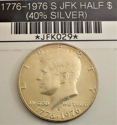 1776-1976 S $.50 JFK (40% SILVER) JFK029
