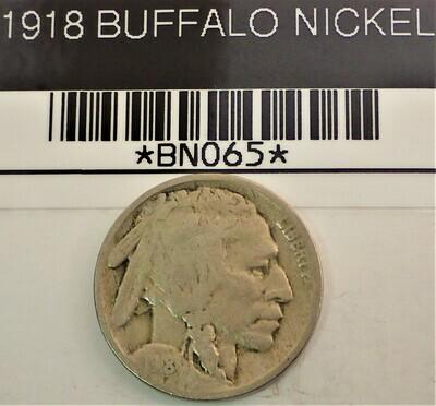 1918 BUFFALO NICKEL BN065