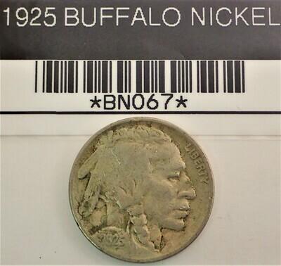 1925 BUFFALO NICKEL BN067
