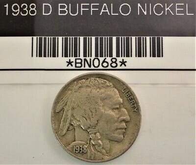 1938 D BUFFALO NICKEL BN068