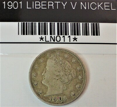 1901 LIBERTY V NICKEL LN011