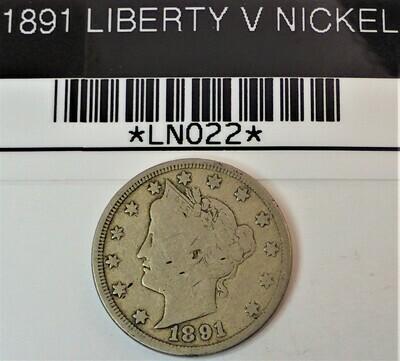1891 LIBERTY V NICKEL LN022