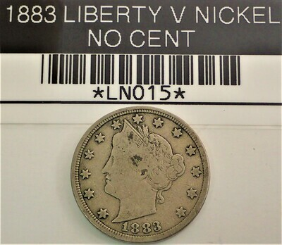 1883 LIBERTY V NICKEL (NO CENT) LN015