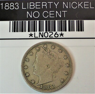 1883 LIBERTY V NICKEL (NO CENT) LN026