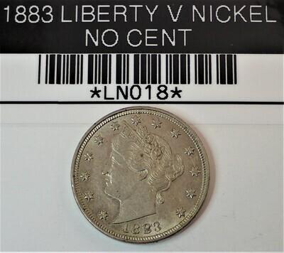 1883 LIBERTY V NICKEL (NO CENT) LN018