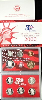 2000 SILVER  PROOF SET BOX & PAPERS PSS1031