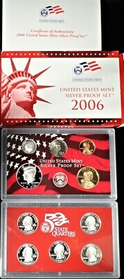 2006 SILVER  PROOF SET BOX & PAPERS PSS1037