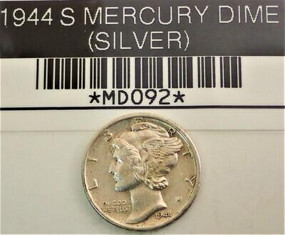 1944 S MERCURY DIME (SILVER) MD092