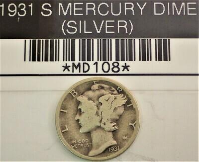 1931 S MERCURY DIME (SILVER) MD108