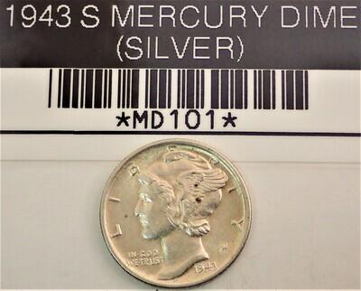 1943 S MERCURY DIME (SILVER) MD101