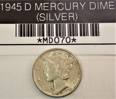 1945 MERCURY DIME (SILVER) MD070