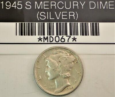 1945 MERCURY DIME (SILVER) MD067