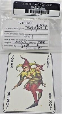 JOKER PLAYING CARD (BATMAN) MM1107
