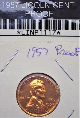 1957 LINCOLN CENT (PROOF) LINP1117
