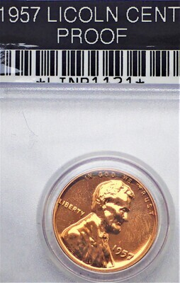 1957 LINCOLN CENT (PROOF) LINP1121