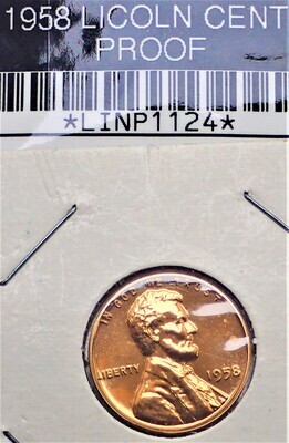 1958 LINCOLN CENT (PROOF) LINP1124