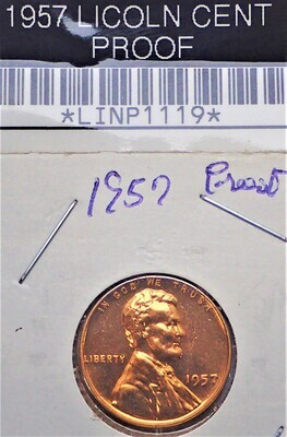 1957 LINCOLN CENT (PROOF) LINP1119