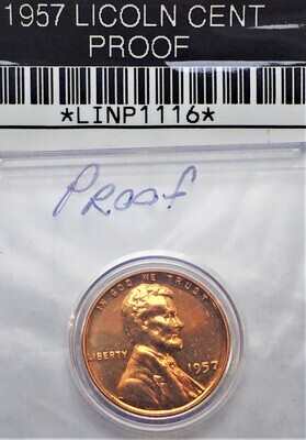 1957 LINCOLN CENT (PROOF) LINP1116
