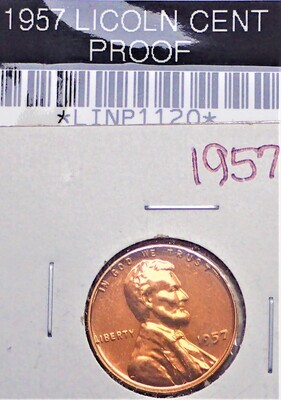 1957 LINCOLN CENT (PROOF) LINP1120