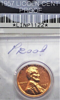 1957 LINCOLN CENT (PROOF) LINP1122