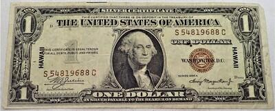 1935 A $1 SILVER CERTIFICATE (HAWAII) S54819688C