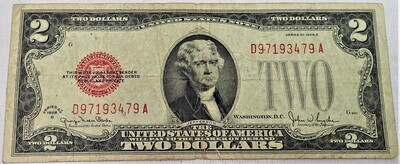 1928 G $2 NOTE D97193479A
