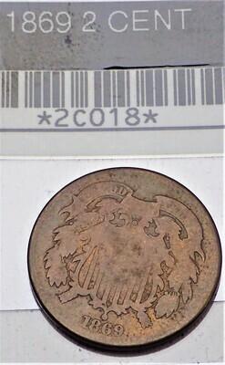 1869 2 CENT 2C018