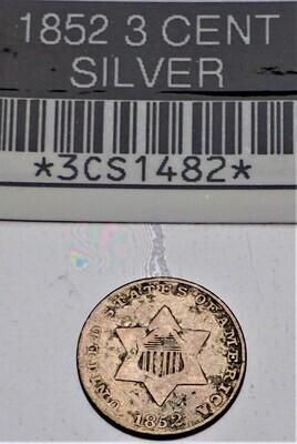 1853 3 CENT SILVER 3CS1482