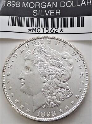 1898 MORGAN SILVER DOLLAR MO1562