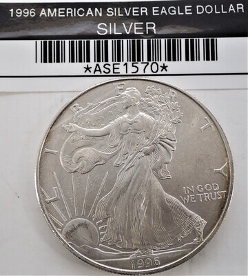 1996 $1 AMERICAN SILVER EAGLE ASE1570