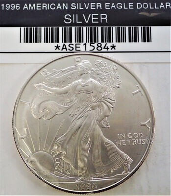 1996 $1 AMERICAN SILVER EAGLE ASE1584