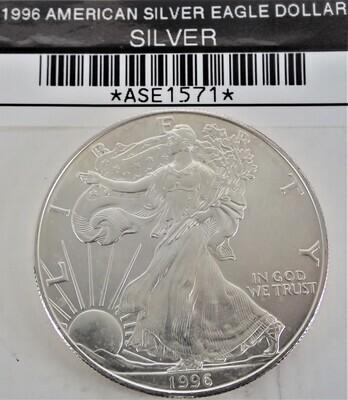 1996 $1 AMERICAN SILVER EAGLE ASE1571