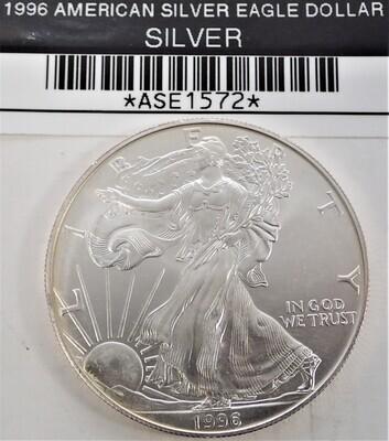 1996 $1 AMERICAN SILVER EAGLE ASE1572