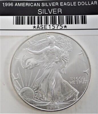 1996 $1 AMERICAN SILVER EAGLE ASE1575