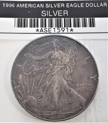 1996 $1 AMERICAN SILVER EAGLE ASE1591