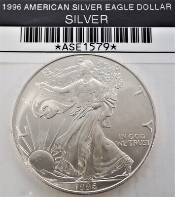 1996 $1 AMERICAN SILVER EAGLE ASE1579