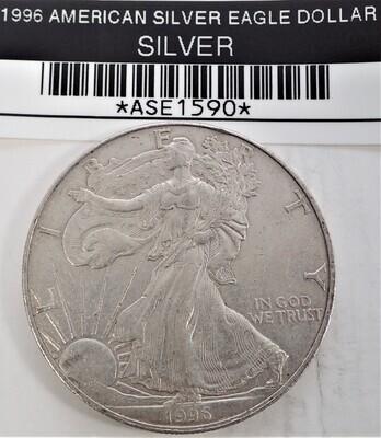 1996 $1 AMERICAN SILVER EAGLE ASE1590