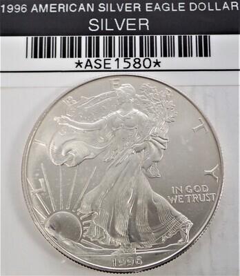 1996 $1 AMERICAN SILVER EAGLE ASE1580