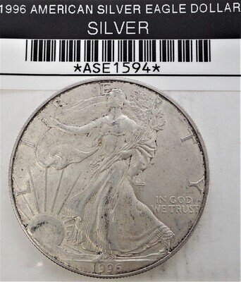 1996 $1 AMERICAN SILVER EAGLE ASE1594