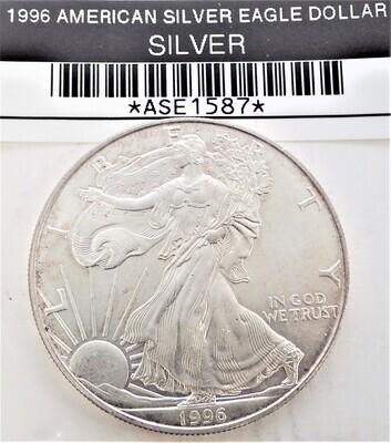 1996 $1 AMERICAN SILVER EAGLE ASE1587