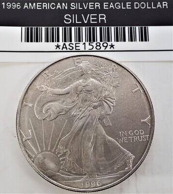 1996 $1 AMERICAN SILVER EAGLE ASE1589