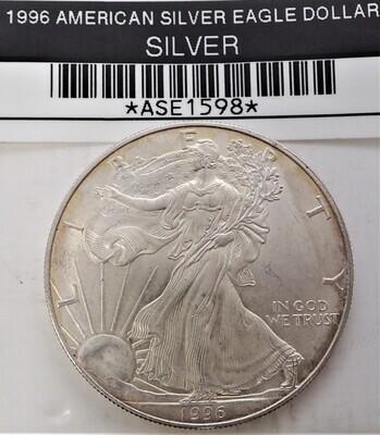 1996 $1 AMERICAN SILVER EAGLE ASE1598