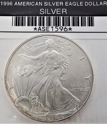 1996 $1 AMERICAN SILVER EAGLE ASE1596