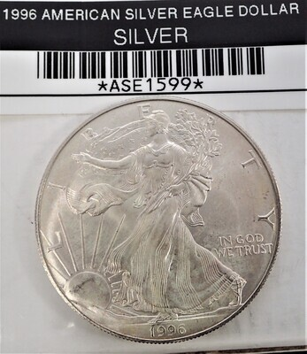 1996 $1 AMERICAN SILVER EAGLE ASE1599