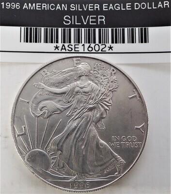 1996 $1 AMERICAN SILVER EAGLE ASE1602