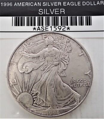 1996 $1 AMERICAN SILVER EAGLE ASE1592